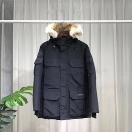 Wholesale mens corduroy coats resale online – Top Quality New Mens Fashion parka Waterproof Windstopper Advanced Fabric Thick Top Quality mens goose down coats