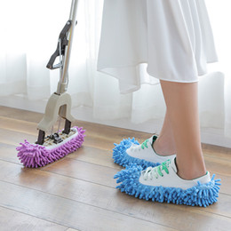 Wholesale cleaning housing for sale - Group buy Dust Mops Slipper House Bathroom Floor Cleaning Mop Cleaner Slipper Lazy Shoes Cover Microfiber Colors GWF4288