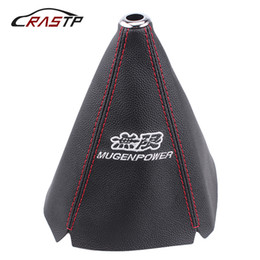 Wholesale Gear Shift Lever Knob Cover JDM Car Racing Leather Cloth Black Universal Shifter Boot Colllar Interior Accessories SFN073