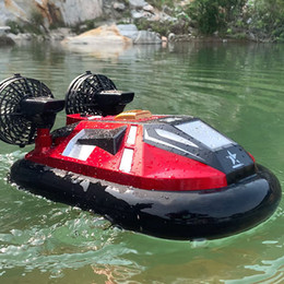 2.4G Big RC hovercraft 4 direction racing amphibious hovercraft high speed rc boat toys For Children on Sale