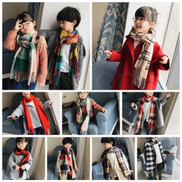manteau cape à carreaux achat en gros de-news_sitemap_homeEnfants écharpe de laine Cardigan cm Patchwork Plaid Cape Poncho Tassel Hiver chaud Couverture Cape Wrap Châle Outwear Coat Party Favor RRA3689