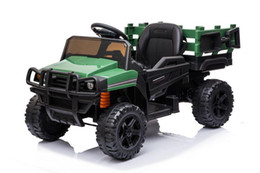 Ride on UTV with Trailer12v Rechargeable Battery Agricultural Vehicle Toy with 2 Speed,USB & Bluetooth Audio Electric Rugged Truck W42220809