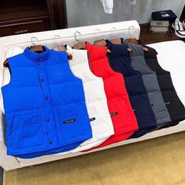 Wholesale vest men resale online - 2020 Mens Vests Down Vest Parkas New Mens Down Coat Winter Boys Sleeveless Jackets Womens Down Coat Active New Clothes