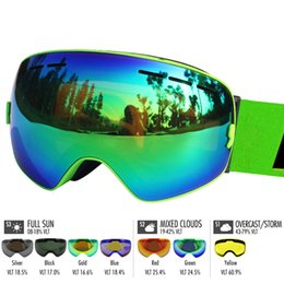 half mask snowboard UK - 70%OFF H igh Quality Locle Double layers Anti-Fog Uv 400 glasses Men Women Skiing Snowboard Skateboard Snow Glass Ski mask