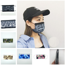 b face mask UK - 3 Layer Mask Face Protective B Disposable Mask Black Fashion Masks Lqui Face Disposable Lace Anti-Dust Activated Women Print Cover Non- Vjnm