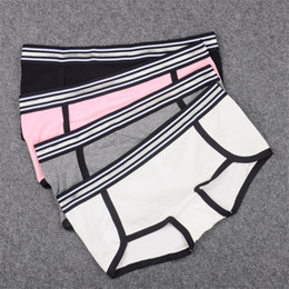 Wholesale lingerie boy for sale - Group buy Cute Panties Boyshorts For Women Boy Short Thick Cotton Underwear Women Boxer Silver Waistband High Quality Female Lingerie LJ201225
