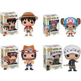 10cm Funko Pop One Piece Monkey D Luffy Qiao BA PVC Action Figurines Big Tête Doll Modèle Jouets en Solde