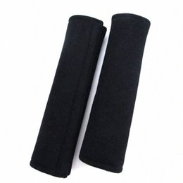 seat belt pads NZ - 2Pcs Lot Soft Black Car Seat Belt Pads Harness Safety Shoulder Strap Backpack Seat Belt Shoulder Strap hD2A#