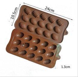 Silicone 15 buracos ovo em forma de molde de chocolate diy mini ovos de páscoa cozinha decora ferramentas handmade pirulito tofoes doces molde g11302 em Promoção