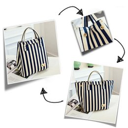 Wholesale Office Leakproof Stripe Portable Thermal Insulation Waterproof Lunch Bag Picnic Oxford Cloth Tote Container Reusable School1