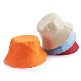 Moda Fisherman Bucket Cap Lazer Sólidos Homens Cor Esporte Flat Top Mulher Verão Hat Outdoor Viagem Chapéu de Sol em Promoção