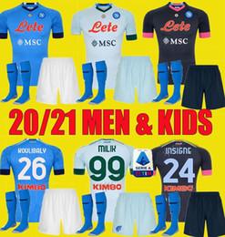 Wholesale player boy for sale – custom 20 kids kit napoli soccer jersey home and away Naples ZIELINSKI HAMSIK INSIGNE MERTENS CALLEJON PLAYER ROG football shirts
