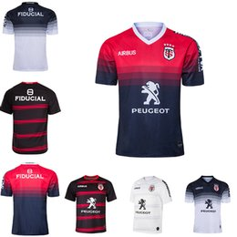 Wholesale new xxxl sport jersey for sale – plus size new Toulouse Home Rugby Jersey STADE TOULOUSAIN Toulouse Rugby Jerseys League jersey Tluth shirt Leisure sports