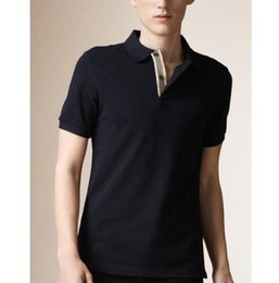 Wholesale casual shirt designs england resale online - England Men Polo Shirt Horse Embroidery British Designed Summer Spring Cotton Male Casual Polos GB T Shirts Tops Black