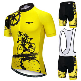 Wholesale Weimostar 2020 Pro Team Cycling Jersey Set Men Mountain Bike Clothing Summer MTB Bicycle Wear Clothes Anti-UV Cycling Clothing1