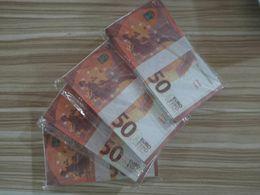 Vente en gros 001 de haute qualité 50 Euro Prop argent Discothèque Bar faux argent Film argent Faux billettes Euro 50 Euro