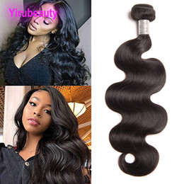 sample wave Canada - Peruvian Human Hair Body Wave One Bundle Sample Virgin Hair Brazilian Hair Extensions Double Wefts Weave Natural Color 30inch 38inch