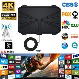 4K Digital HDTV Aerial Indoor Amplified Antenna 1180 Miles Range HD1080P DVBT2 Freeview TV HD digital TV antenna on Sale