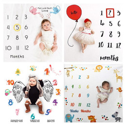 Wholesale clothing japan online – design Infant Blanket Creative Digital Photography Baby Swaddle Baby Toddler Cinematography Porp Wrap Newborn Background Clothes LSK1512