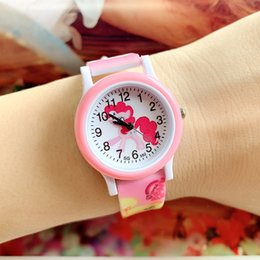 little girls watches Australia - 10pcs lot fashion kids children students cartoon little horse girls watches new casual gift quartz plastic printing wristwatch
