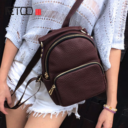 Discount cowboy bags HBP AETOO Leather mini shoulder bag ladies trend bag head layer cowboy wild leisure travel small backpack