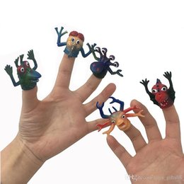 funny puppets UK - Funny Spoof simulation animal finger cover props TPR monster hand puppet finger doll interactive toy freeshipping