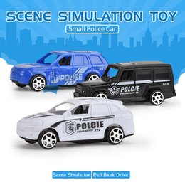 toys police truck Canada - Model car toys Hand Push Scooter Police car model toys 2020 hot sell educational toys gift of the child