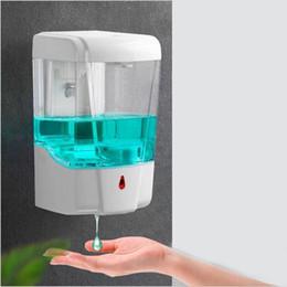 Vente en gros 700ml automatique Distributeur de savon Touchless Smart Sensor batterie salle de bains Distributeur de savon liquide mains libres Touchless Distributeur de désinfectant VT1910