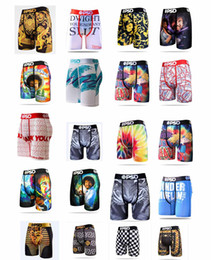 ingrosso biancheria intima uomo 2xl-Stili casuali PSD Biancheria intima Uomo Unisex Boxer Sport Floral Hiphop Skateboard Street Fashion Streched Legging Mix Color S XL