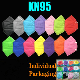 15 Colors KN95 Mask Factory 95% Filter FFP2 Colorful Activated Carbon Breathing Respirator Valve 6 layer Designer Face Shield top sale on Sale