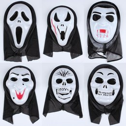 scream mask wholesale UK - Skull Full Halloween Grimace Party Horror Skeleton Screaming Masquerade Creative Face Mask Cosplay Props Decoration Tta1950-1 Blslo