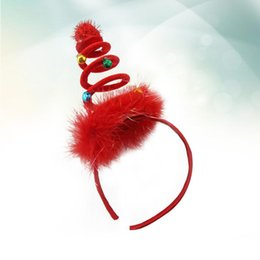 photo funny prop Australia - 1 pc Christmas Hair Band Feather Xmas Spiral Spring Funny Headdress Photo Props Hair Hoop Party Favors for Children Kids
