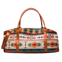 large duffel bag women UK - Brand Fashion Serape Leopard Travel Bag Wholesale Blanks Stripe Leopard Duffle Bag Large Capacity Overnight Weekend Purse DOM1096