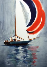 Discount paintings sailboats Large Art sailboat Home Decor Handpainted &HD Print Oil Painting On Canvas Wall Art Canvas Pictures , F2012020