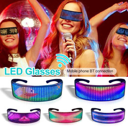 Wholesale Party Bluetooth LED Glasses Disco Wine Bar APP Magic Dynamic Flashing Light Glass With USB Charging Halloween Christmas1