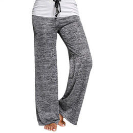 baggy yoga pants Canada - Loose Yoga Pants Running Wide Leg female Trousers Low Waist Breathable Sweatpants Baggy Pants Active Wear Womens Athletic Pants