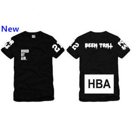 trill t shirt Canada - Summer Size S--3XL T Shirt Trill By Men Air Hood Cotton Print Been Tee HBA Tshirts 4 Color Blank W3 Qtiee