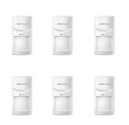 security system panels Australia - 6 x Wolf-Guard Wireless PIR Sensor Motion Detector for Home Security Alarm Burglar System 3G GSM Alarm Panel 433MHZ HW-05B1