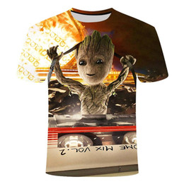 Wholesale superheroes t shirts for sale – custom Superhero Groot Movie Guardian Of The Galaxy T Shirt Summer New Men s d Print Men And Women Baby Groot Flowerpot Groot Tshirt wmtaqu