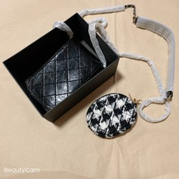 Wholesale New C women fashion Cosmetic bag, mobile phone bag, coin purse, mother-and-child bag, classic chain for fashion office bag gift box vip gift