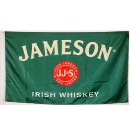 Discount jameson whiskey Jameson Irish Whiskey Flags Banners 3X5FT 100D Polyester Hot Design 150x90cm Fast Shipping Vivid Color With Two Brass Grommets
