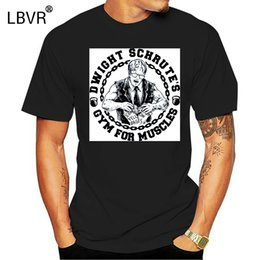 Wholesale the office shirts for sale – plus size Dwight Schrute The Office Gym For Muscles Dunder Mifflin Graphic T Shirt Gray Funny Tee Shirt