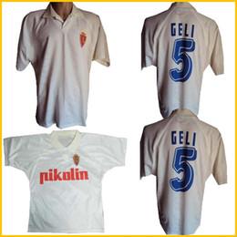 1994 1995 real zaragoza retro soccer jersey 94 95 Poyet PARDEZA Nayim HIGUERA vintage classic football shirt on Sale