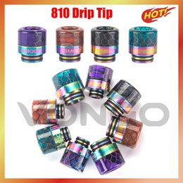 Wholesale baby snakes for sale - Group buy 810 drip tip Rainbow Snake Skin Shape long Epoxy Resin Skin Shape long Epoxy Resin TFV8 Drip Tip fit TFV8 Big Baby TFV12 Prince Atomizer