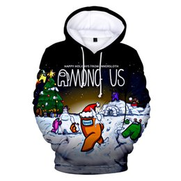 video game clothing Canada - 2021 Among Us 3D Women Sweatshirt Long Sleeve Men's Hoodie Unisex Streetwear Video Games Harajuku Clothes Plus Size #1