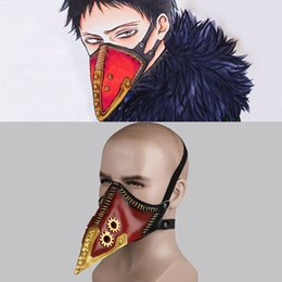 doctors mouth mask 2021 - Anime My Hero Academia Overhaul Mask Cosplay Crow Mouth Plague Doctor Halloween Masks Steampunk Face Long Beak Gothic He