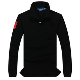 Wholesale long sleeve black polo shirt for sale – custom Mens Hoodies polo Embroidered Sweatshirt Pullover Long Sleeve Hoodie High Quality Hoodies Casual Streetwear Jumpers Unisex Shirts