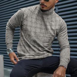 Hiver Casual Floral Slim Fit Tops T-shirt homme chaud à manches longues T-shirt à encolure ras-du-cou