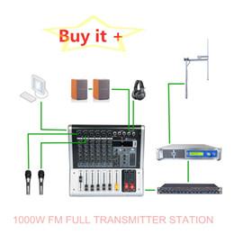 Wholesale Warranty 6 Year 87.0-108MHZ 1000W Wireless Smart FM Transmisor Full Box For Radio Broadcast Professional Equipment With Freeshipping