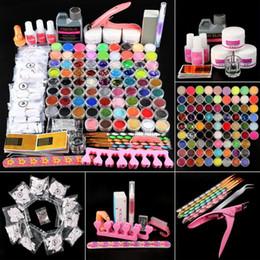 Pro Acrylic Nail Art Kit 78pcs Acrylic Powder Glitter 120ml Liquid Nail Art Kit Crystal Brush Skill Tool on Sale